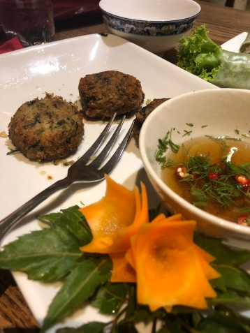 """Crab Cakes"" from Minh Chay, Old Quarter"
